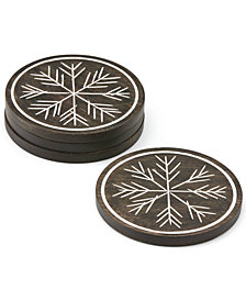Lenox Alpine 4-Pc. Wood Coaster Set
