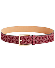 MICHAEL Michael Kors Signature Diamond Perforated Belt