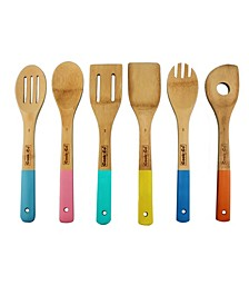 CooknCo Set of 6 Bamboo Utensil Set