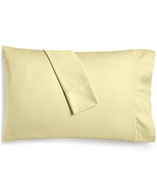 Martha Stewart Collection Solid Open Stock 400 Thread Count Pillowcase Pair, Created for Macy's