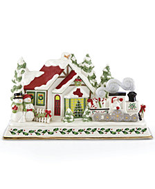 Lenox Santa & Train Musical Lighted Centerpiece