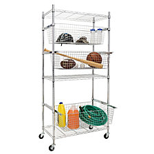 Honey Can Do All-Star Sports Shelving Black