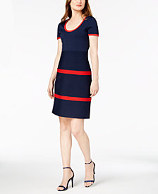 Anne Klein Colorblocked Sweater Dress