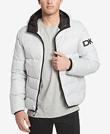 DKNY Men's Hooded Puffer Jacket, Created for Macy's