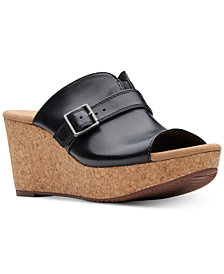 Clarks Collection Women's Annadel Holly Wedge Sandals