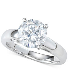 Diamond Solitaire Engagement Ring (2-1/2 ct. t.w.) in 14k White Gold