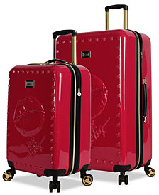 Betsey Johnson Lips Expandable Hardside Luggage Collection