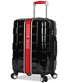 "Steve Madden Street 20"" Hardside Expandable Carry-On Spinner Suitcase"