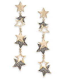 Thalia Sodi Gold-Tone Pavé Drop Earrings, Created for Macy's