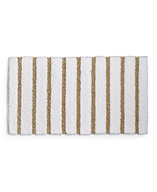 "Charter Club Elite Stripe 19.3"" x 34"" Fashion Bath Rug, Created for Macy's"
