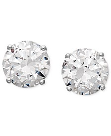 14k White Gold Earrings, Swarovski Zirconia Round Stud Earrings (1-3/4 ct. t.w.-6-5/8 ct. t.w.)