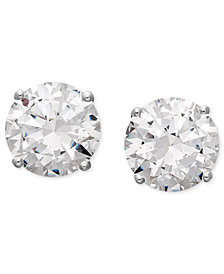 Arabella 14k White Gold Earrings, Swarovski Zirconia Round Stud Earrings (1-3/4 ct. t.w.-6-5/8 ct. t.w.)