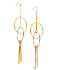 GUESS Interlocking Circle Drop Earrings