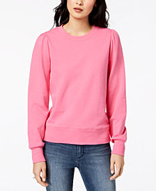 Maison Jules Blouson-Sleeves Sweatshirt, Created for Macy's