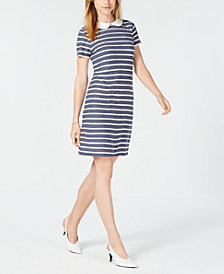 Maison Jules Peter-Pan-Collar Dress, Created for Macy's