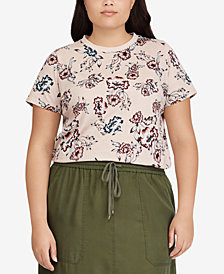 Lauren Ralph Lauren Plus Size Lightweight Cotton Top