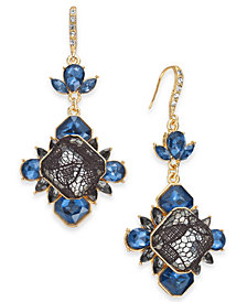 I.N.C. Gold-Tone Stone & Lace Drop Earrings, Created for Macy's