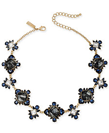 "I.N.C Gold-Tone Stone & Lace Collar Necklace, 16"" + 3"" extender, Created for Macy''s"