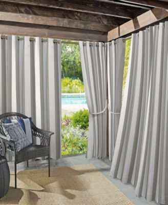 "Valencia 54"" X 84"" Cabana Stripe Indoor/Outdoor UV Protectant Curtain Panel"