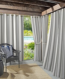 "Sun Zero Valencia 54"" X 108"" Cabana Stripe Indoor/Outdoor UV Protectant Curtain Panel"