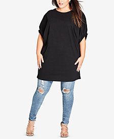 City Chic Trendy Plus Size Cotton Tunic
