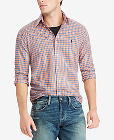 Polo Ralph Lauren Men's Classic-Fit Plaid Twill Shirt