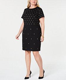 MICHAEL Michael Kors Plus Size Studded Sheath Dress