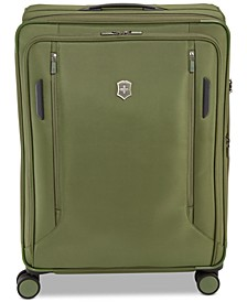 "CLOSEOUT! VX Avenue 27.5"" Large Expandable Softside Spinner Suitcase in Olive"