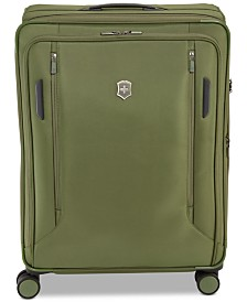 "CLOSEOUT! Victorinox Swiss Army VX Avenue 27.5"" Large Expandable Softside Spinner Suitcase in Olive"