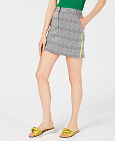 Project 28 Plaid Mini Skirt