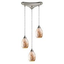 Capri 3-Light  Glass Pendant