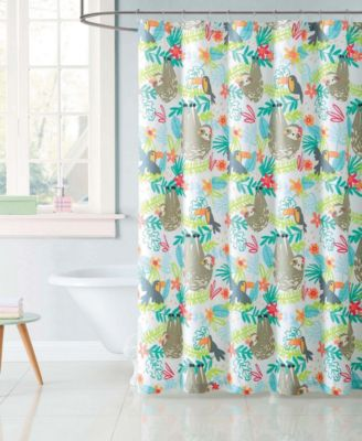 Kids Hanging Out Shower Curtain