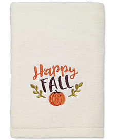 LAST ACT! Avanti Happy Fall Cotton Embroidered Hand Towel