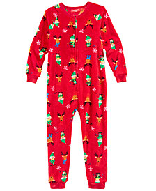 Matching Family Pajamas Elf One-Piece, Available in Toddler and Kids, Created for Macy's