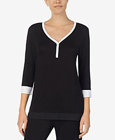 DKNY Colorblocked Pajama Top