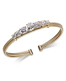 Danori Crystal Double-Row Cuff Bracelet, Created for Macy's