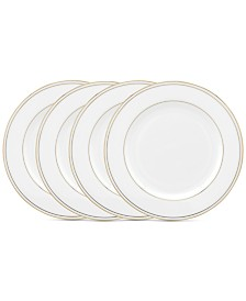 Lenox Federal Gold Tidbit Plates, Set of 4
