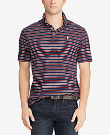 Polo Ralph Lauren Men's Big & Tall Classic-Fit Soft-Touch Striped Polo Shirt