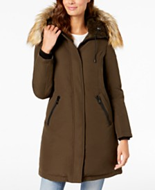 Vince Camuto Faux-Fur-Trim Hooded Down Parka