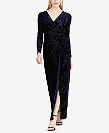 Lauren Ralph Lauren Tie-Wrap Gown