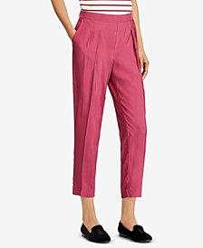 Lauren Ralph Lauren Skinny Pleated Twill Pants