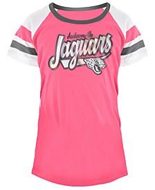 Jacksonville Jaguars Pink Foil T-Shirt, Girls (4-16)