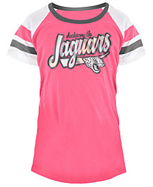 5th & Ocean Jacksonville Jaguars Pink Foil T-Shirt, Girls (4-16)