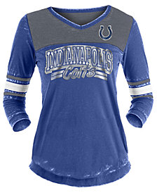 5th & Ocean Women's Indianapolis Colts Burn Out Three-Quarter Sleeve T-Shirt