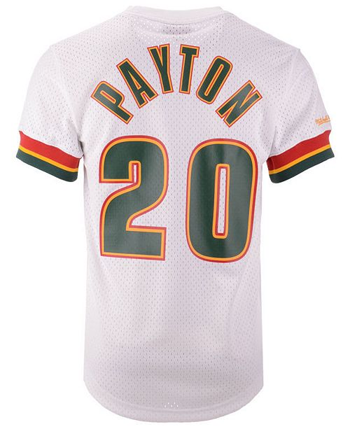 170b1a09476 ... sale mitchell ness mens gary payton seattle supersonics name and number  mesh crewneck jersey sports fan