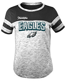 5th & Ocean Philadelphia Eagles Space Dye Glitter T-Shirt, Girls (4-16)