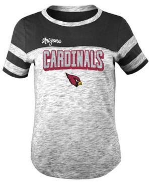 Image of 5th & Ocean Arizona Cardinals Space Dye Glitter T-Shirt, Girls (4-16)