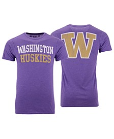 Men's Washington Huskies Team Stacked Dual Blend T-Shirt