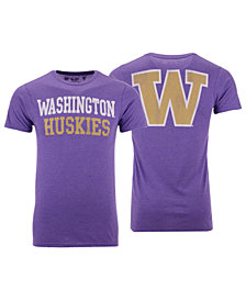 Retro Brand Men's Washington Huskies Team Stacked Dual Blend T-Shirt