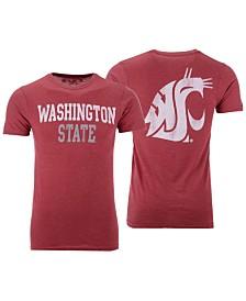 Retro Brand Men's Washington State Cougars Team Stacked Dual Blend T-Shirt